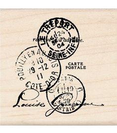 Inkadinkado Rubber Stamp-Paper Artsy Tre'port Postal: stamps: stamping: scrapbooking: Shop | Joann.com