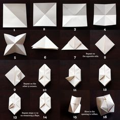 DIY - Paper Cube String Light Fold Instruction Tutorial.