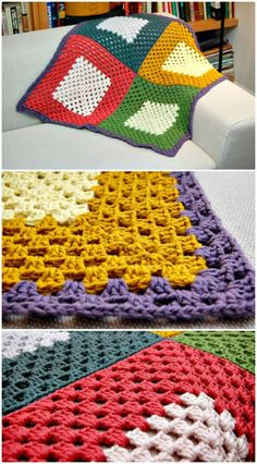 Crochet Quadrant Blanket Afghan Pattern - Crochet Afghan Patterns - 41 Free Patterns for Beginners - DIY & Crafts