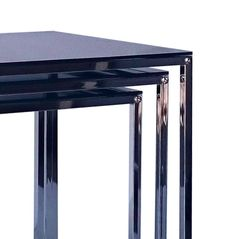 Add a hint of modern luxury to your living space with the Zoie Nesting Table: a combination of tempered glass tops sitting on stainless steel frames. On sale  now #connectfurniture #australia #furniture #interiordesign #homedecor #design #picoftheday #instagood #potd #furnituredesign #interiors #interiordesigner #interiordecor #interiordesignideas #interiordecoration #interiorarchitecture #architecture #details #luxury #coffeetable #table #contemporary #contemporarydesign