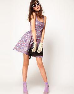 Enlarge ASOS Dolly Skater Dress In Paisley