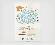 design graphique et typographique de l'affiche de la grande course
