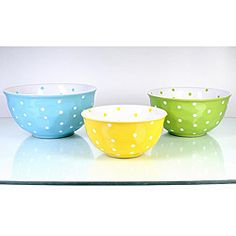 Bistro Assorted Color Mixing Bowls (Pack of 3) | Overstock™ Shopping - Great Deals on Global Amici Bowls & Colanders
