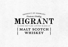 Migrant Whiskey on Packaging of the World - Creative Package Design Gallery