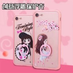 Ring buckle embossed 3D Relief Silicone Case Cover For Apple iphone 5 5s SE 6 6s 7 6plus Soft TPU Case cute case | iPhone Covers Online