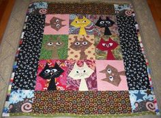 Image result for quilts made with cats on parade
