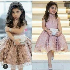 Cheap Flower Girl Dresses, Buy Directly from China Suppliers:Pink 2018 Flower Girl Dresses For Weddings Ball Gown Hig Collar Tulle Pearls First Communion Dresses For Little Girls Cheap Flower Girl Dresses, Little Girl Dresses, Flower Girls, Girls Dresses, Kids Party Wear Frocks, Kids Party Wear Dresses, Girls Designer Dresses, Dress Party, Little Girls