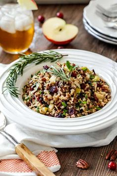 Cranberry Apple Pecan Wild Rice Pilaf – Food