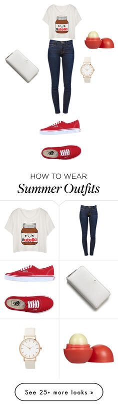 """Mall outfit"" by kylie90603 on Polyvore featuring Frame Denim, Vans, Kate Spade and Eos"