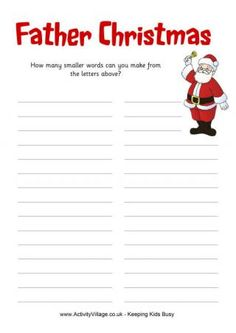 How Many Words - Father Christmas