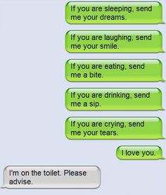If you are pooping, send me your poops funny sms text message