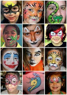 MAĽOVANIE NA TVÁR :: NajVecičky Face Painting Unicorn, Girl Face Painting, Painting For Kids, Body Painting, Easy Face Painting Designs, Face Painting Stencils, Halloween Makeup For Kids, Kids Makeup, Karneval Diy