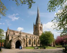 """The famous """"Crooked Spire"""" in Chesterfield. It's proper name is the St Marys and All Saints Parish Church but everyone just refers to it as the Crooked Spire!"""