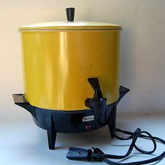 Items similar to Vintage Mustard Yellow Electric Coffee Percolator, Working Condition on Etsy 30 Cup Coffee Maker, Feng Shui Wind Chimes, Low Cabinet, Vintage Coffee, Cooker, Coffee Percolator, 1950s, Laughter, Random Stuff