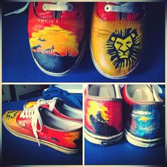 The Lion King Vans by ThoseInFavor on Etsy, $115.00
