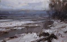 Thawing Arrived by Tibor Nagy / Oil ~ 9,8 x 15,7
