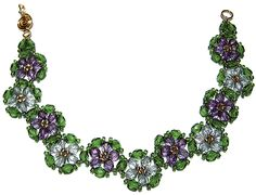 Crystal Luster Flower Bracelet now free from Deb Roberti.  PDF at bottom.  #Seed #Bead #Tutorials