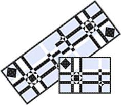 City Scape Table Set Pattern TRQ-145 (advanced beginner, home decor & houseware)