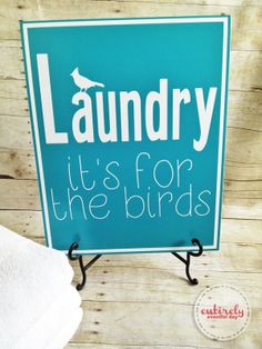 Free Laundry Printable #printable #laundry