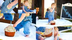 Cutest smash cake photo session!