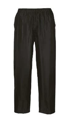 Black Large S441 Rainwear Mens  Waterproof Rain Pants