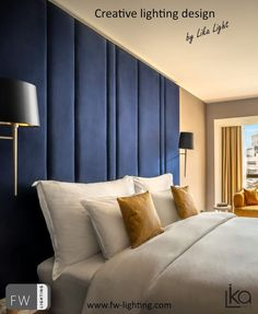 Decorative lighting created for the Grand Hotel Adriatic by Lika Svjetlo Lighting Manufacturers, Grand Hotel, Light Decorations, Lighting Design, Decorative Lighting, Curtains, Bed, Interior, Furniture