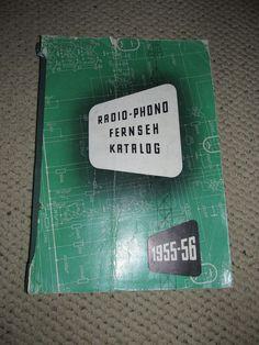 Vintage 1955 56 Radio Phono Fernseh Katalog Blaupunkt Siemens Krefft | eBay