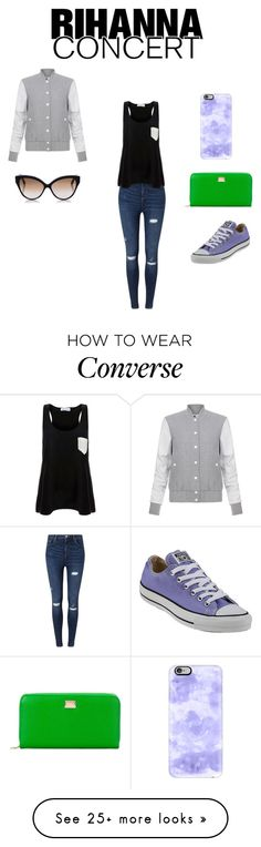 """""""Rihanna here i come!"""" by samanthalee400 on Polyvore featuring Miss Selfridge, Solid & Striped, Dolce&Gabbana, Converse, Elizabeth and James, Cutler and Gross and Casetify"""