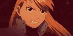 It seems out of character for her to hold her guns like that, but still, awesome. Riza Hawkeye, folks.