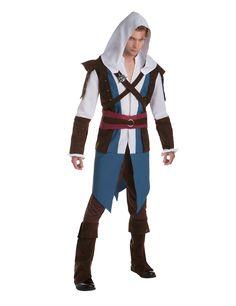 Disfraz Edward clásico Assassin's creed™ adulto: Este disfraz de Edward Kenway para hombre tiene licencia oficialAssassin's creed™.Incluye túnica, capucha y pantalón (zapatos no incluidos).La túnica representa...