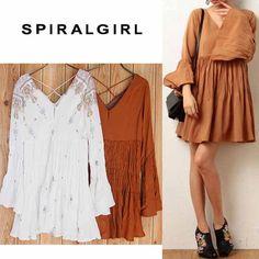 SpiralGirlスパイラルガールベルスリーブミニワンピース1271-191-1/2017春夏