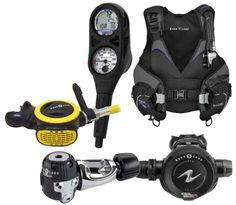 Aqua Lung Women's Package Includes: Pearl BC, Titan regulator, ABS octopus, i300 2 gauge console. Photo: Aqua Lung