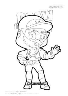 Dibujos para colorear Spike. Imprimir personajes Brawl ...
