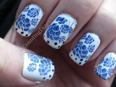 blue china fingernails