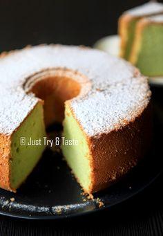 Just Try & Taste: Pandan Chiffon Cake & Tips Sukses Membuatnya Pandan Chiffon Cake, Pandan Cake, My Recipes, Cake Recipes, Cooking Recipes, Bolu Cake, Ogura Cake, Resep Cake, Angel Food Cake