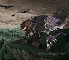 Sonic and the Black Knight; Lancelot, Gawain, and Percival - this is AWESOME artwork.
