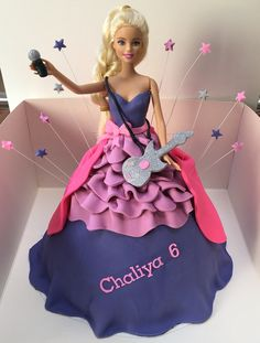 Barbie rockstar cake made by angelique bond from the netherlands