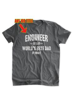 Customized Career TShirt Any Job Title Engineer by by BumpCovers