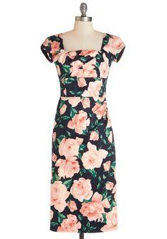 Styling Speech Dress in Roses | Mod Retro Vintage Dresses | ModCloth.com