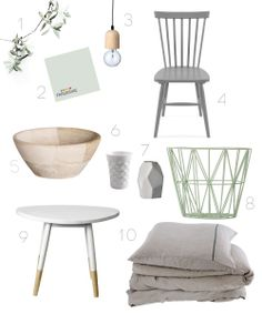Perfect shades of mint and grey