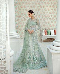 Green Wedding Dresses, Asian Bridal Dresses, Asian Wedding Dress, Pakistani Wedding Outfits, Pakistani Bridal Dresses, Wedding Dresses For Girls, Party Wear Dresses, Bridal Outfits, Bridal Lehenga