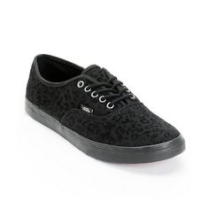 ladies vans black