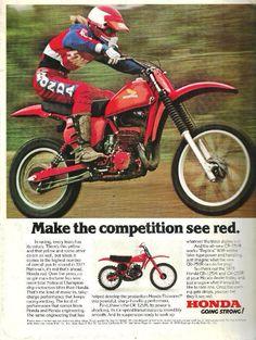 Honda crossmotoren, laat de competitie rood zien voor ogen!