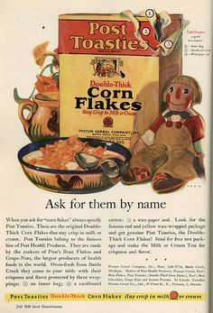 1926 ad This is for u Mike & Melissa:) those darn substitute corn flakes!!