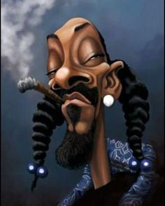 snoop dog, done caricature design by Dope Cartoons, Dope Cartoon Art, Cartoon Faces, Funny Faces, Arte Do Hip Hop, Hip Hop Art, Funny Caricatures, Celebrity Caricatures, Marijuana Art