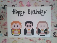 8 Bit Character Card by PrincessMooGifts on Etsy 8 Bit, Harry Potter, Greeting Cards, Unique Jewelry, Birthday, Handmade Gifts, Happy, Character, Etsy