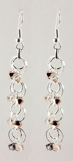 Jewelry Making Idea: Crystal Silk Earrings