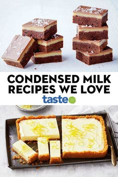 Condensed milk recipes that make everything instantly okay We know our audience love cracking a can of sticky sweetened condensed milk. Here are our favourite desserts, baked goods and treats that pay tribute to Australia's most-loved sweet pantry staple. Tray Bake Recipes, Baking Recipes, Cake Recipes, Good Dessert Recipes, Dessert Simple, Condensed Milk Desserts, Condensed Milk Uses, Sweeten Condensed Milk Recipes, Köstliche Desserts