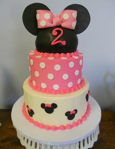 Minnie Mouse Birthday Cake #birthdaycake