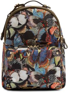 Valentino - Multicolor Butterfly Camouflage Medium Backpack